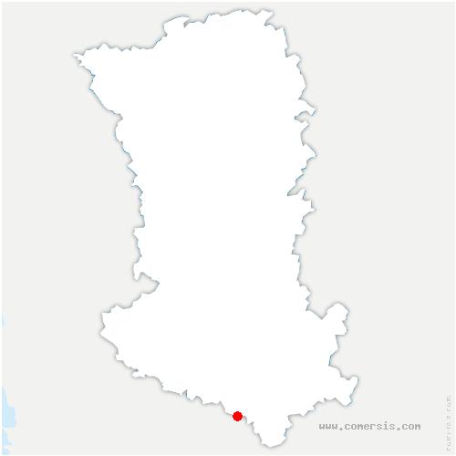 carte de localisation de Ensigné