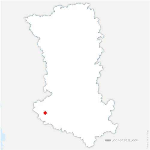carte de localisation de Épannes