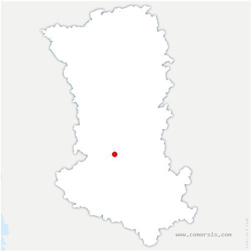 carte de localisation de François
