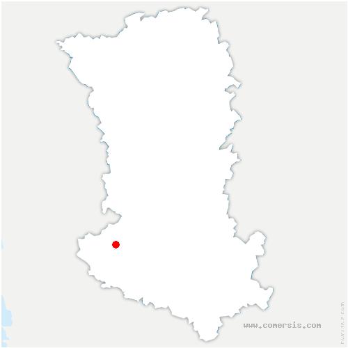 carte de localisation de Frontenay-Rohan-Rohan