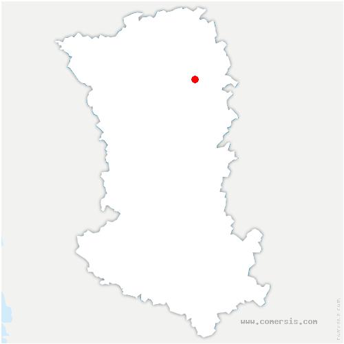 carte de localisation de Glénay