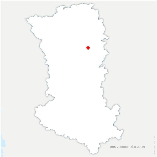 carte de localisation de Gourgé