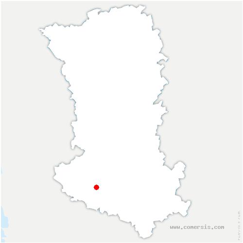 carte de localisation de Granzay-Gript