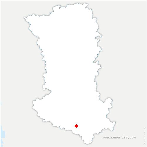 carte de localisation de Juillé