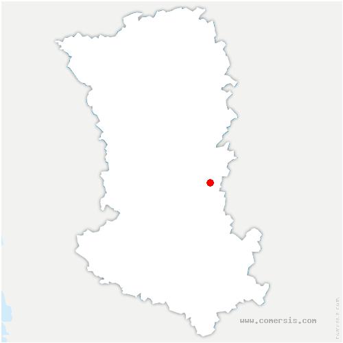 carte de localisation de Les Châteliers