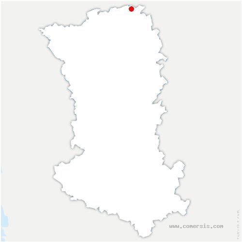 carte de localisation de Loretz-d'Argenton