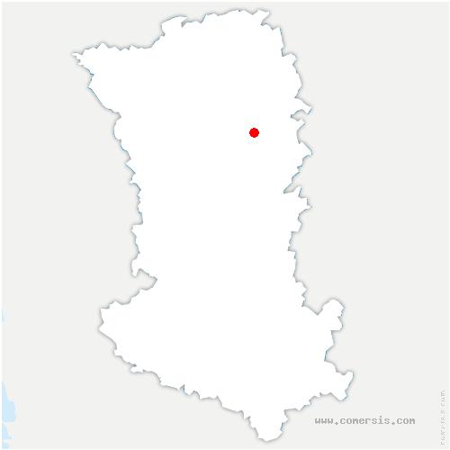 carte de localisation de Louin