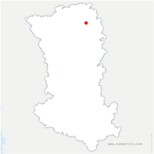 carte de localisation de Luzay