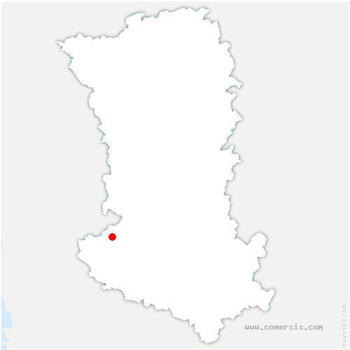 carte de localisation de Magné