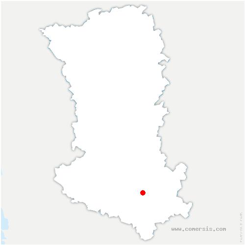 carte de localisation de Marcillé