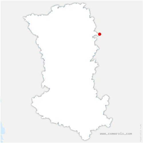 carte de localisation de Marnes