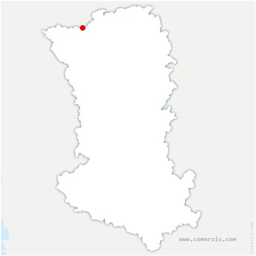 carte de localisation de Nueil-les-Aubiers