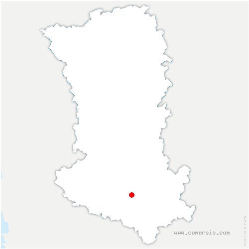 carte de localisation de Périgné