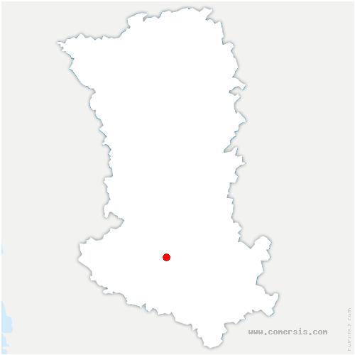 carte de localisation de Prahecq
