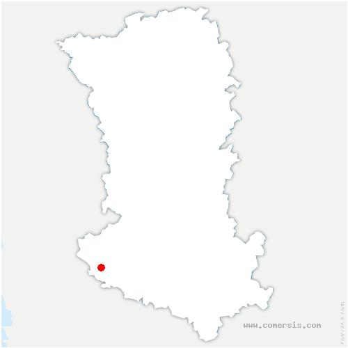 carte de localisation de Prin-Deyrançon
