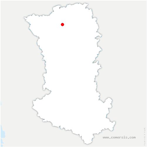 carte de localisation de Saint-Aubin-du-Plain