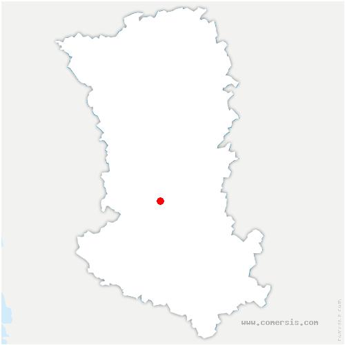carte de localisation de Saint-Christophe-sur-Roc