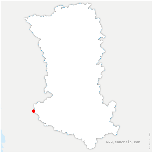 carte de localisation de Saint-Hilaire-la-Palud