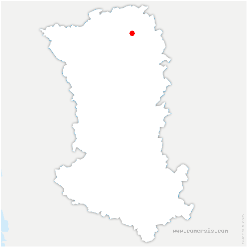 carte de localisation de Saint-Jacques-de-Thouars