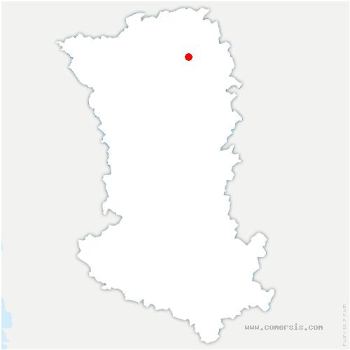 carte de localisation de Saint-Jean-de-Thouars