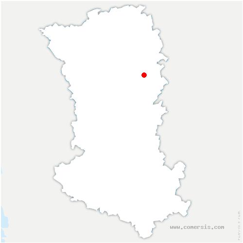 carte de localisation de Saint-Loup-Lamairé