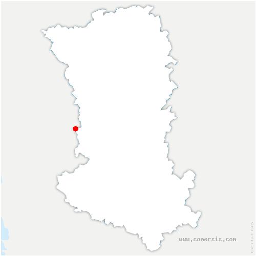 carte de localisation de Saint-Maixent-de-Beugné
