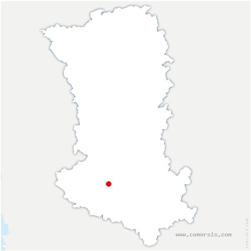 carte de localisation de Saint-Martin-de-Bernegoue