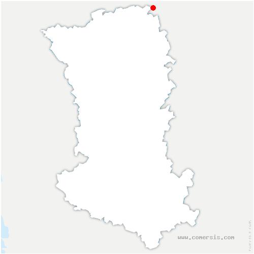 carte de localisation de Saint-Martin-de-Sanzay