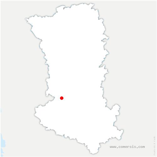 carte de localisation de Saint-Maxire