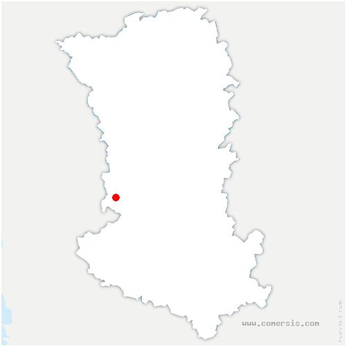 carte de localisation de Saint-Pompain