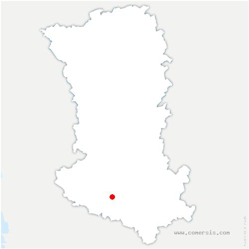 carte de localisation de Saint-Romans-des-Champs