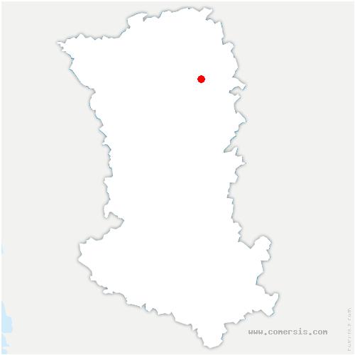 carte de localisation de Saint-Varent