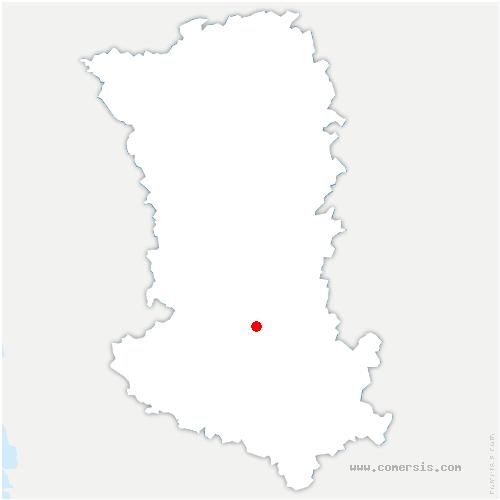 carte de localisation de Sainte-Néomaye