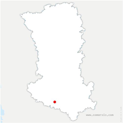 carte de localisation de Secondigné-sur-Belle
