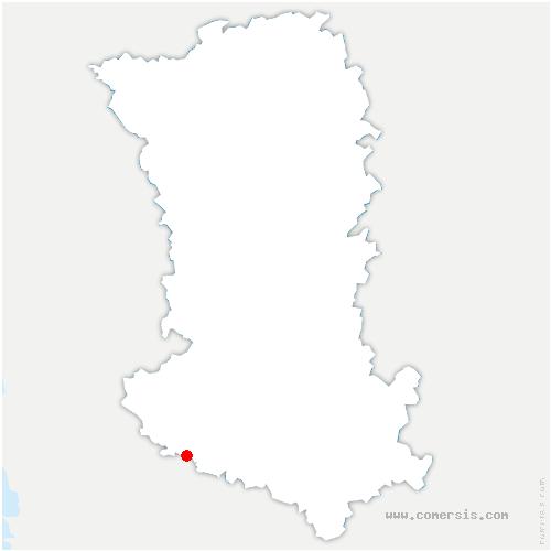 carte de localisation de Thorigny-sur-le-Mignon
