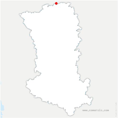 carte de localisation de Val en Vignes
