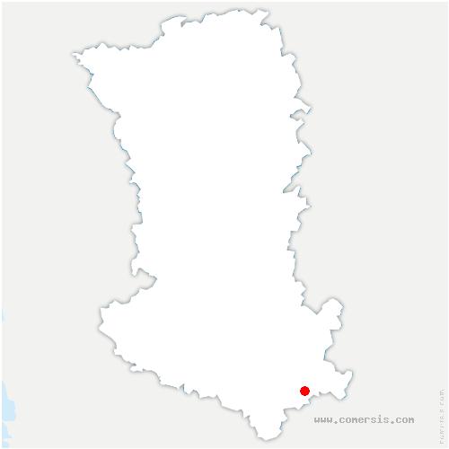 carte de localisation de Valdelaume