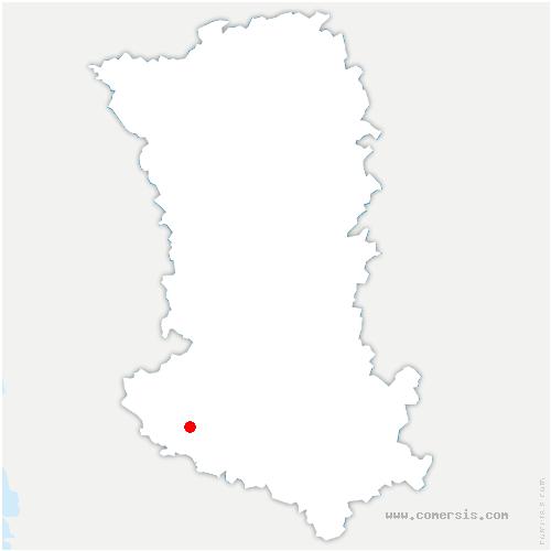 carte de localisation de Vallans