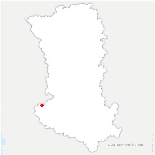 carte de localisation de Vanneau-Irleau