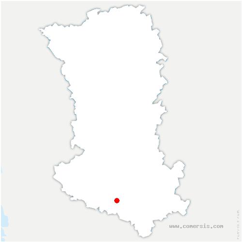 carte de localisation de Vernoux-sur-Boutonne
