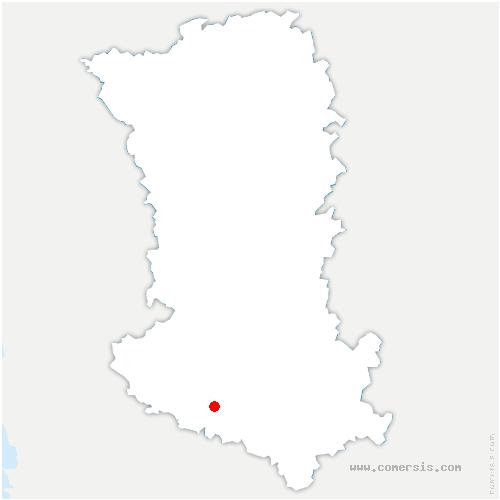 carte de localisation de Villiers-en-Bois