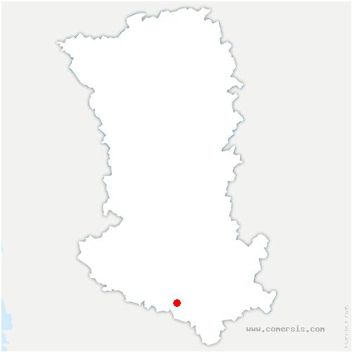carte de localisation de Villiers-sur-Chizé