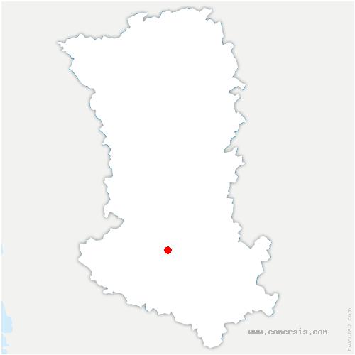 carte de localisation de Vouillé