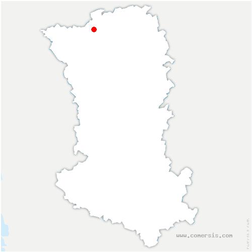 carte de localisation de Voulmentin