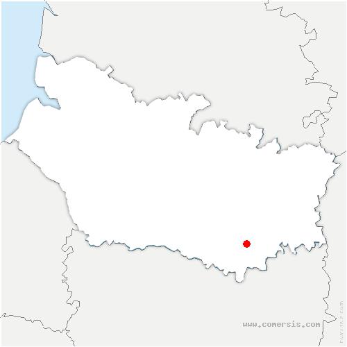 carte de localisation de Andechy