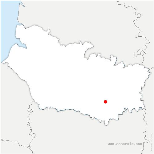 carte de localisation de Arvillers