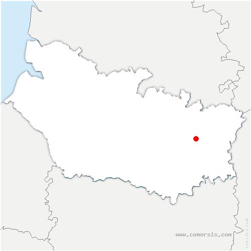 carte de localisation de Assevillers