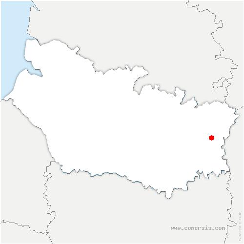 carte de localisation de Athies