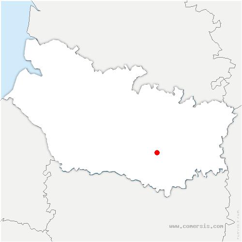 carte de localisation de Beaucourt-en-Santerre