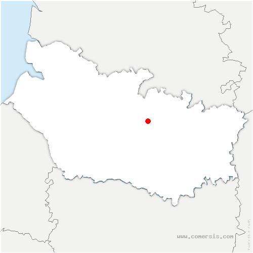 carte de localisation de Beaucourt-sur-l'Hallue